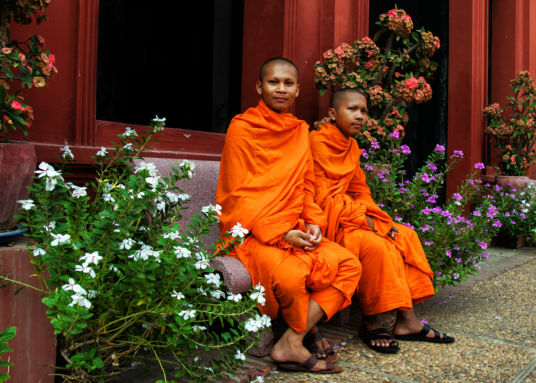 Buddhist Monks, Phnom Penh Cambodia