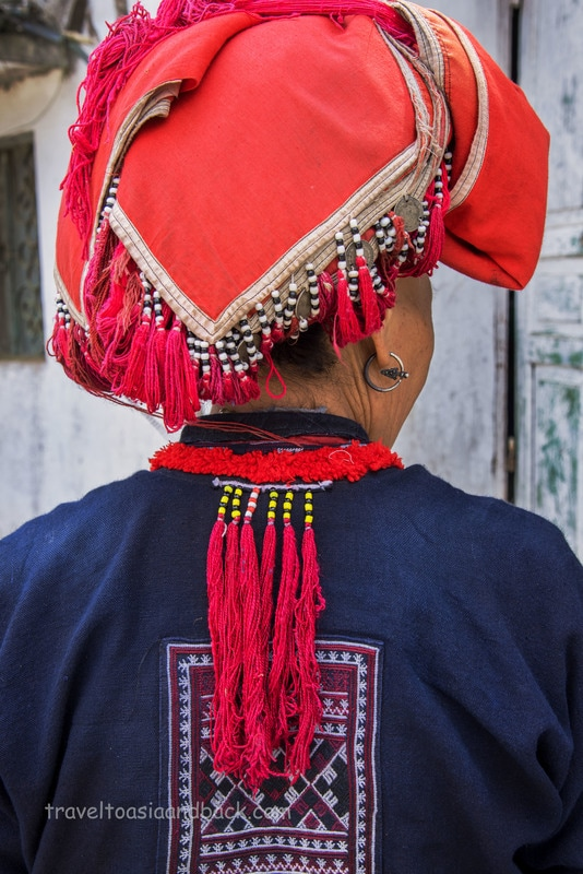 Red Dao headdress, Ta Phin Village, Lao Cai Province, Vietnam