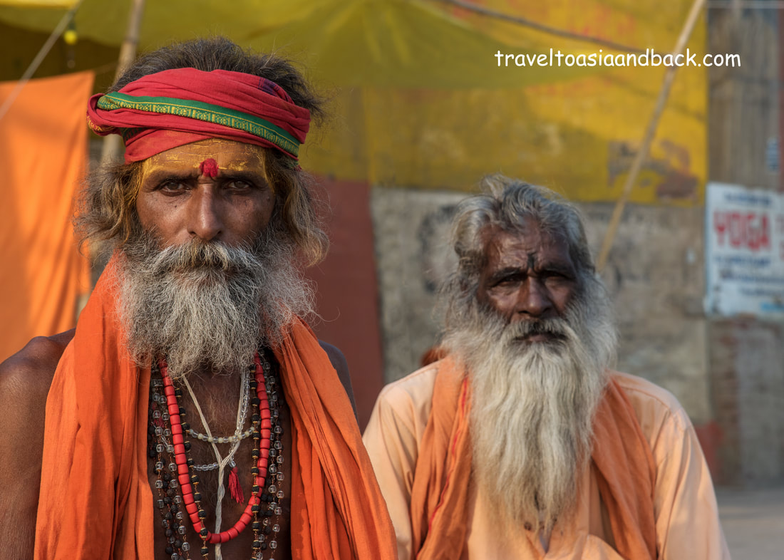 traveltoasiaandback.com - Sadu, or holy men, Varanasi, Uttar Pradesh, India