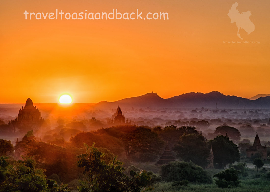 traveltoasiaandback.com - Sunrise over the Plains of Bagan, Myanmar