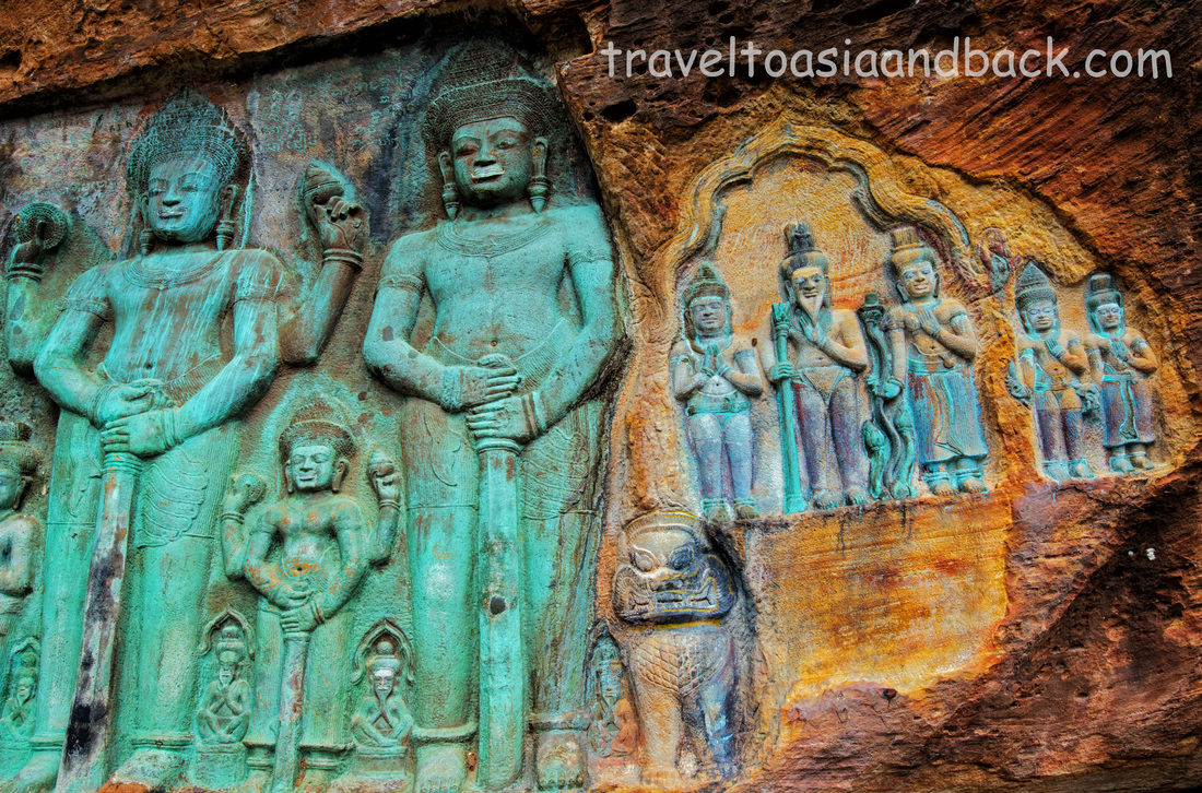 Vishnu and the Rishis, Peung Kom Nuo, Svay Leu, Cambodia